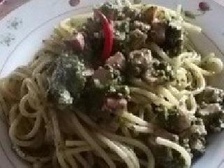 spaghetti campagnoli ripassati in padella