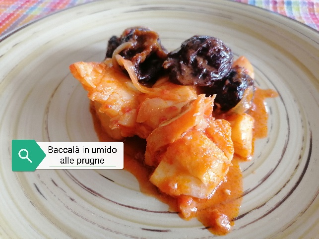 Baccalà in umido alle prugne