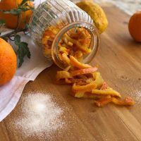 Scorzette di arancia candite