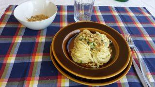 linguine con zucchine e noci