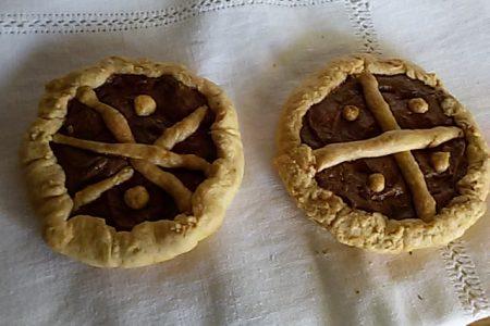 crostata e crostatine al cioccolato
