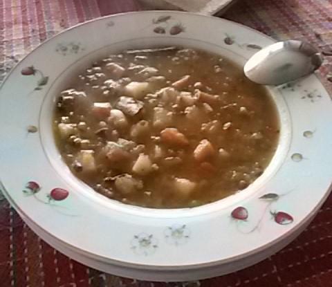 zuppa di legumi con alga kombu