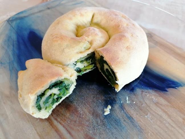 Rocciata agli spinaci con farina di segale
