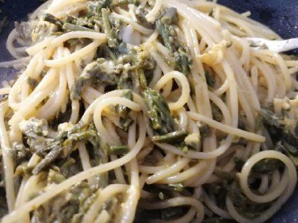 spaghetti strascinati agli asparagi