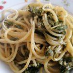 Spaghetti strascinati agli asparagi selvatici