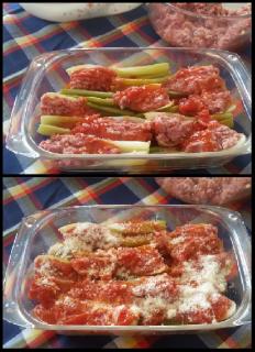 Barchette di sedano alla carne