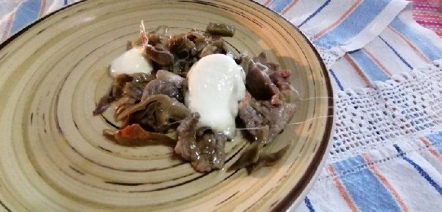 Carciofi e mozzarella