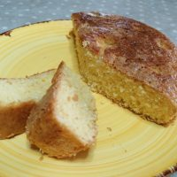torta morbida al cocco e arancia