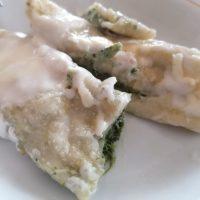 cannelloni bianchi alla ricotta e spinaci