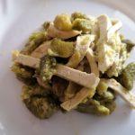 Tofu trifolato alle fave