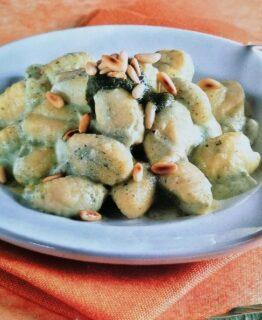 gnocchi in crema verde