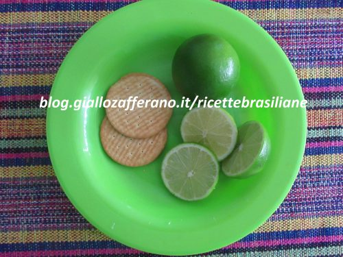 Torta di lime con pasta di biscotto