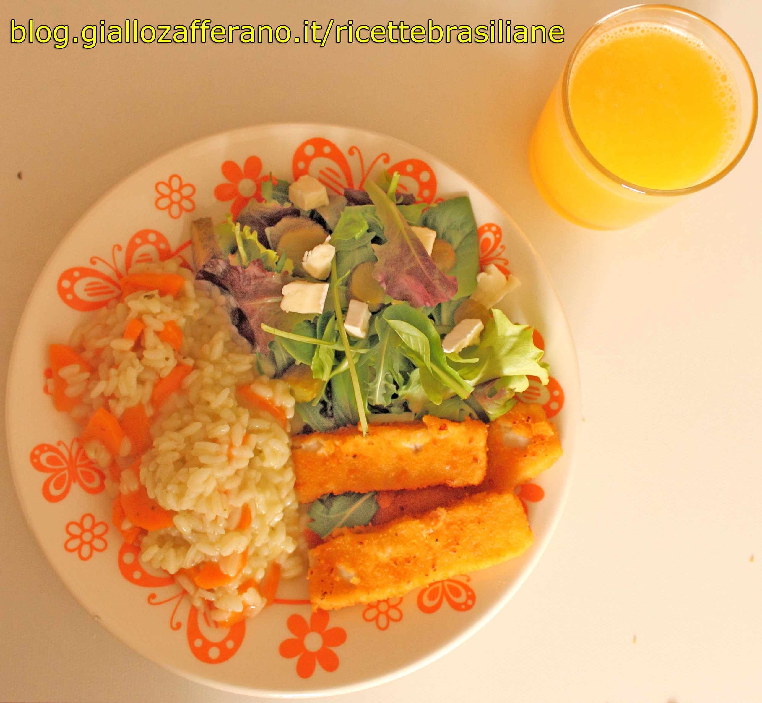 Risotto al pesto, carote e aglio