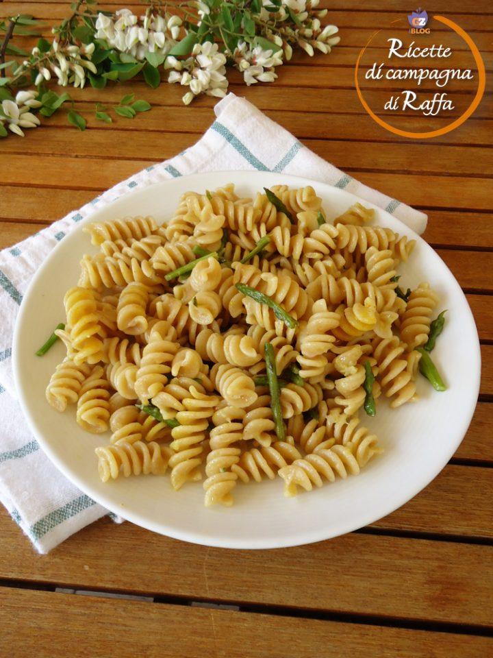Riccioli con asparagi, zenzero e zafferano