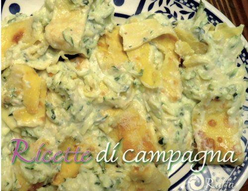 Rotolo di crespelle con zucchine e crema al basilico