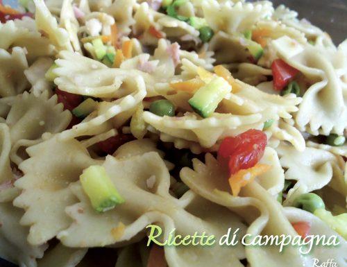 Pasta fredda: farfalle alle verdure