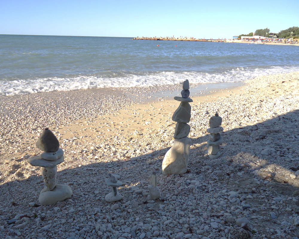 Gita a Portonovo... moscioli e stone balancing