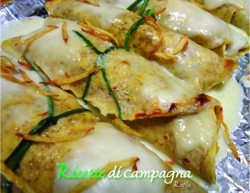 Crêpes con ripieno di zucca e zenzero fritto