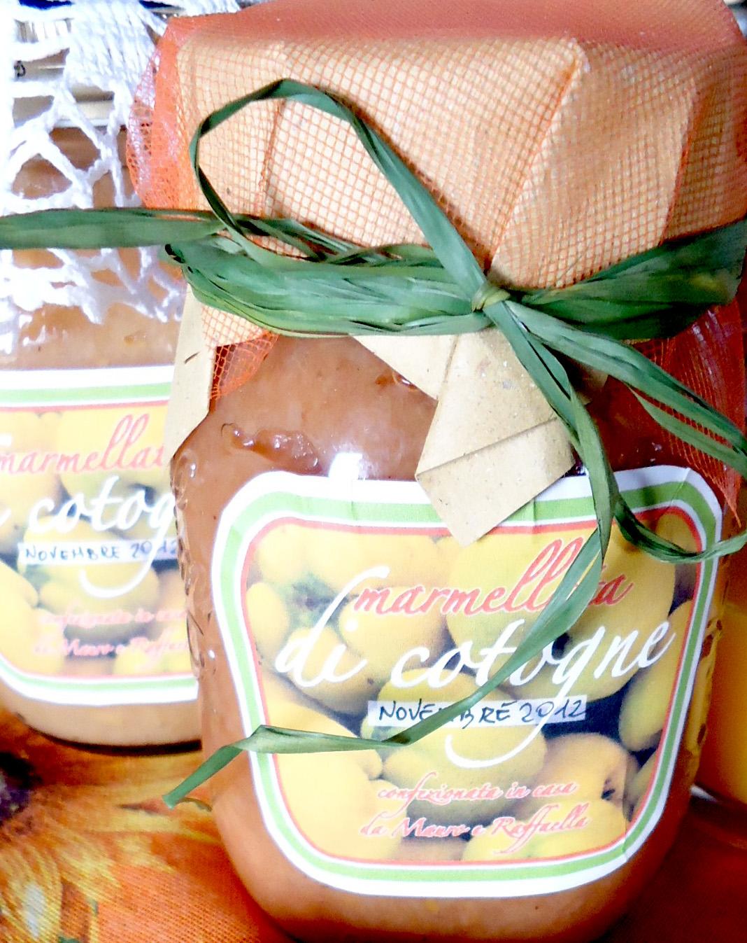 marmellata o confettura di mele cotogne - etichetta
