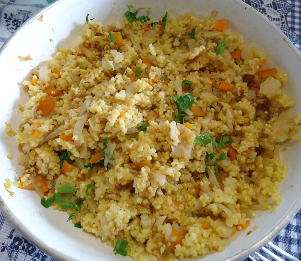 Crocchette di miglio al forno con semi di sesamo for Cucinare miglio