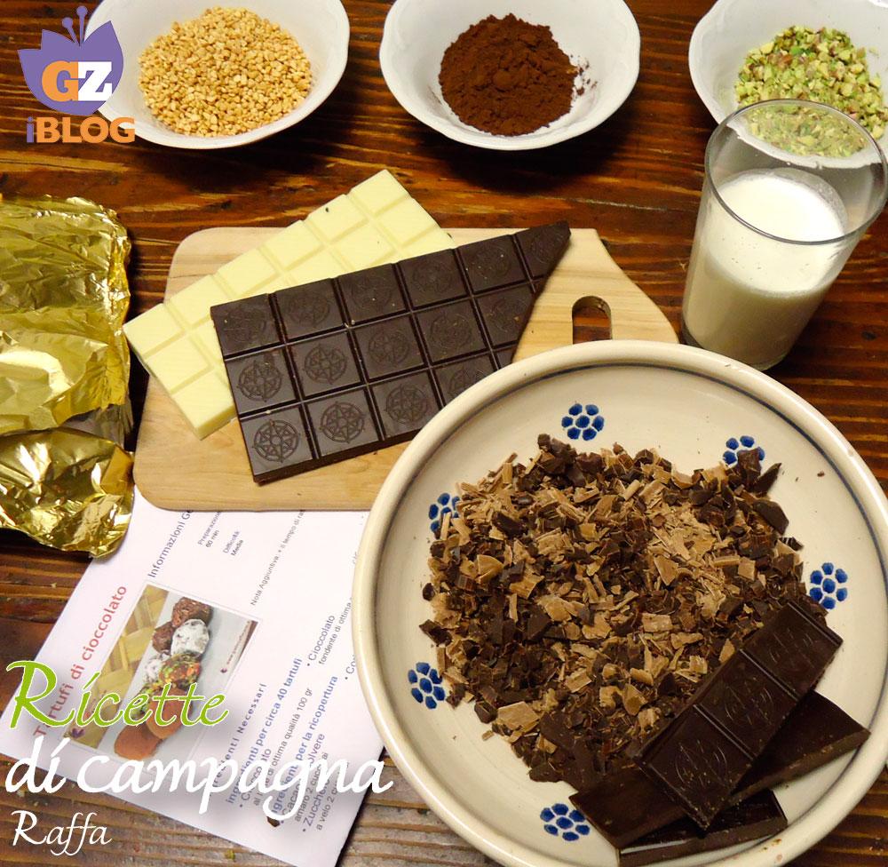 Tartufi di cioccolato confezionati per occasioni speciali - ingredienti