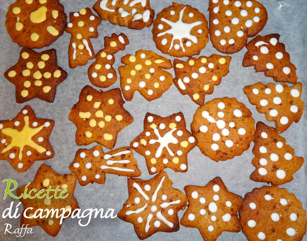 biscotti di Pan di zenzero con farina integrale e zucchero di canna - decorazioni