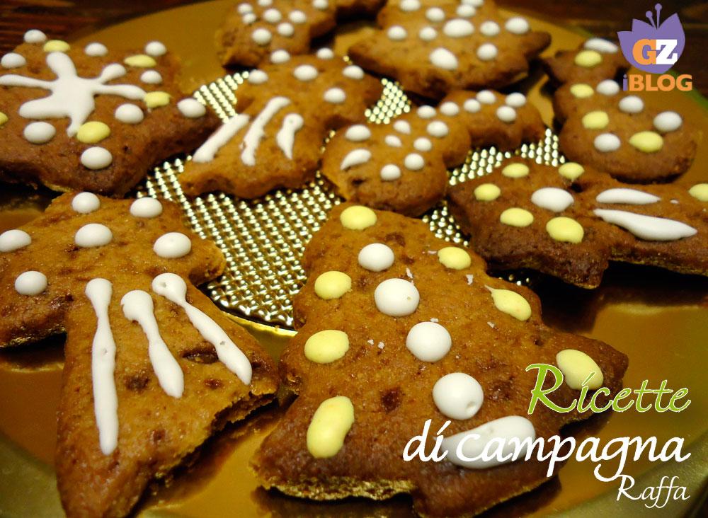 biscotti di Pan di zenzero con farina integrale e zucchero di canna