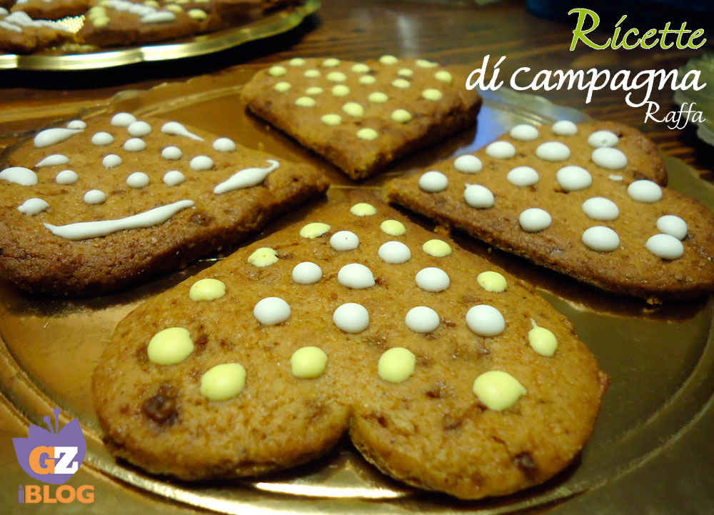 biscotti di Pan di zenzero con farina integrale e zucchero di canna - cuori
