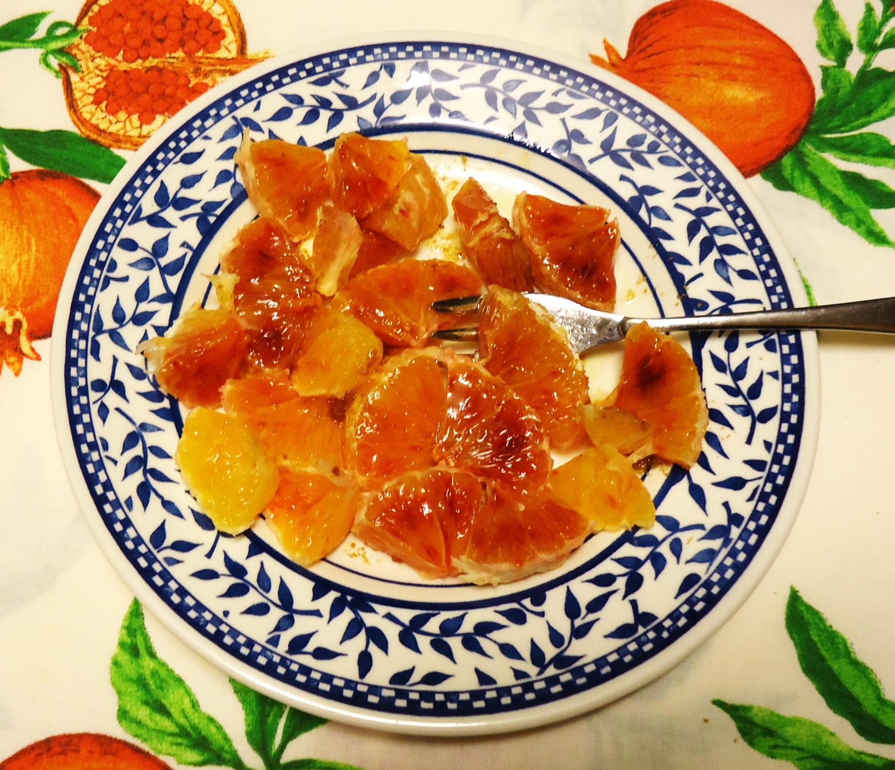 arancia condita per merenda