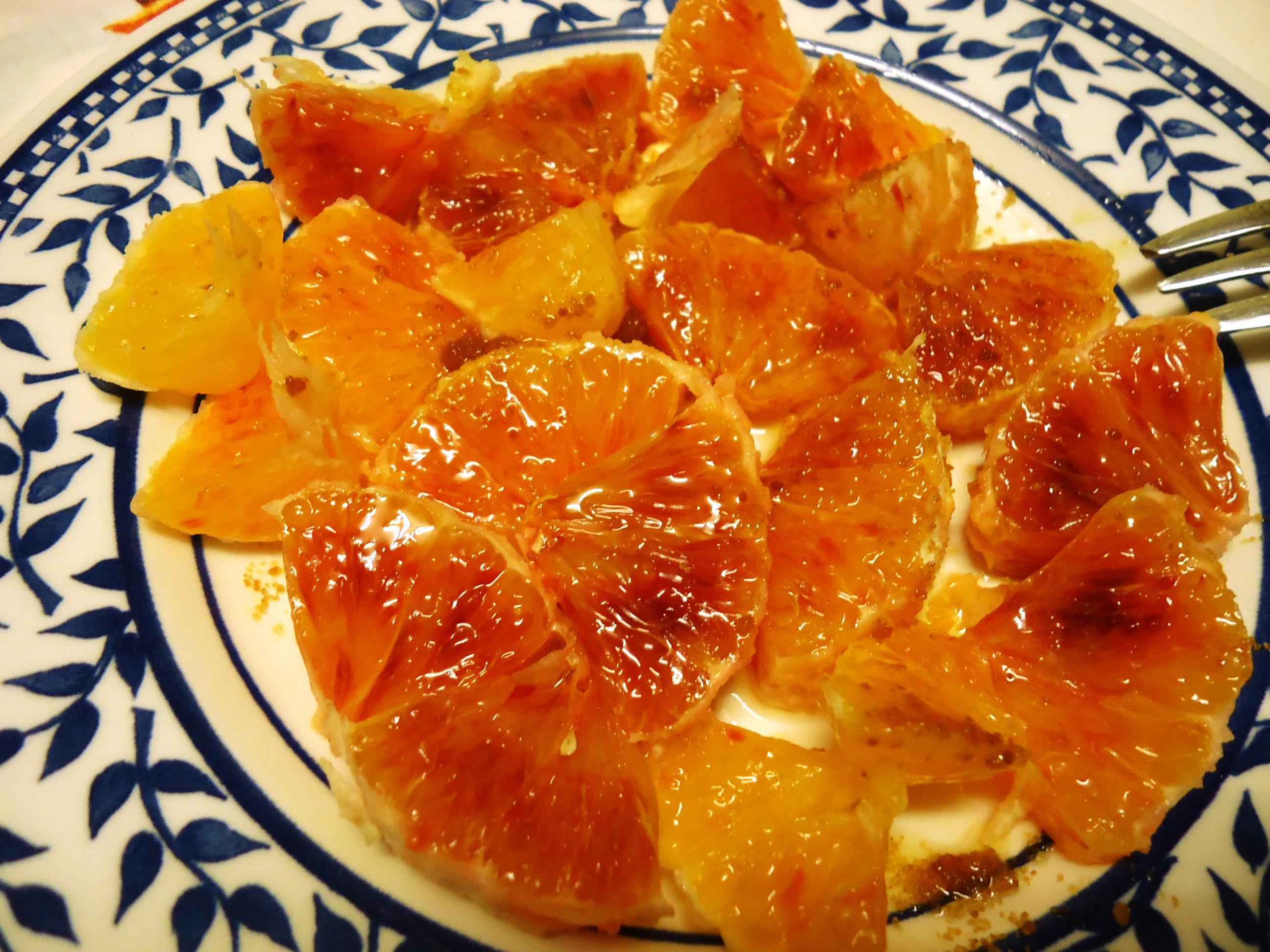 arancia condita per merenda - particolare