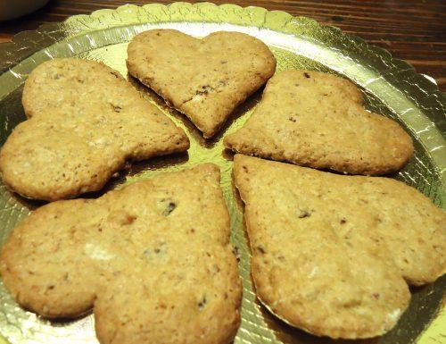Biscotti cuore ai mirtilli