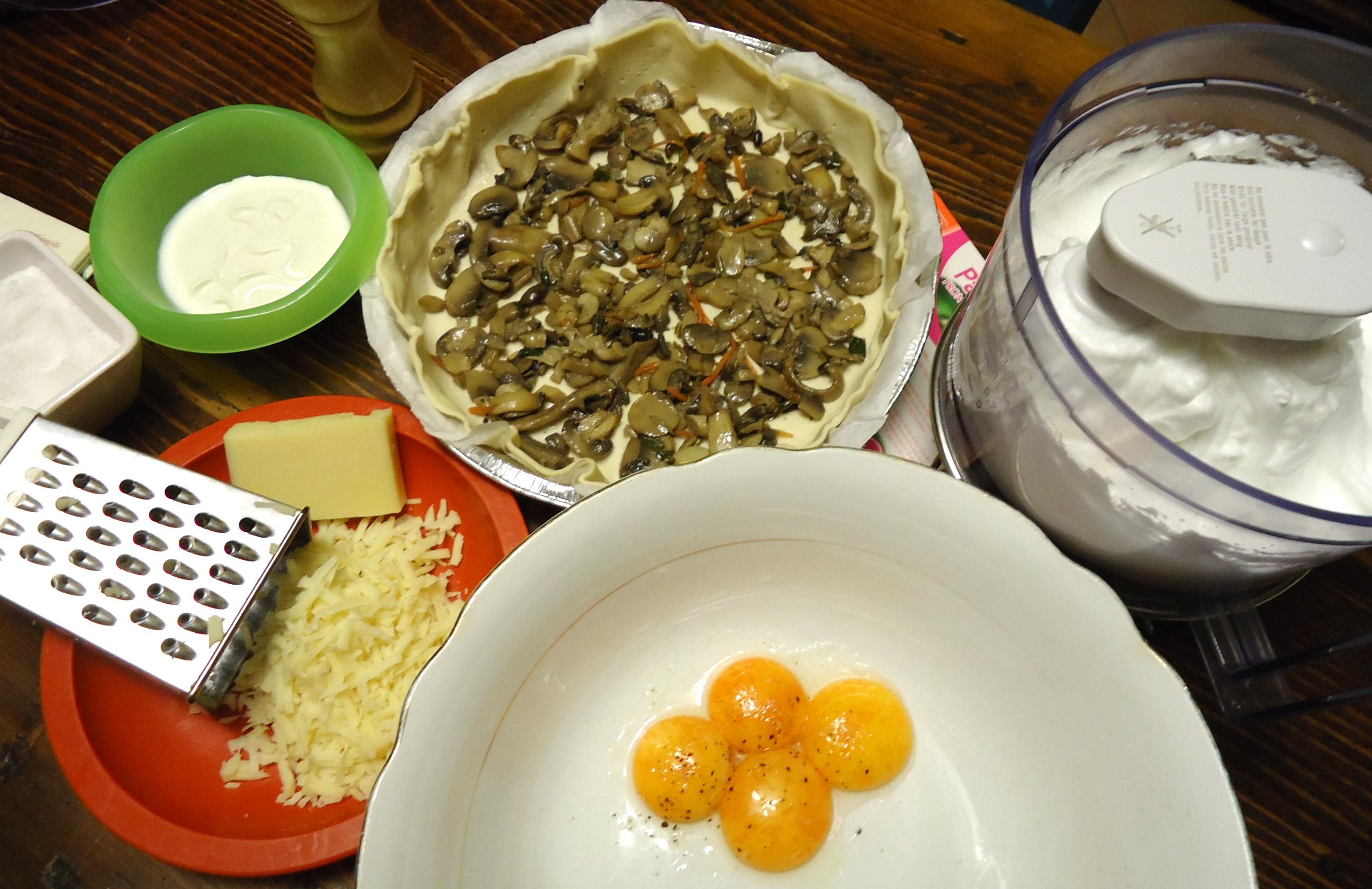 Quiche con funghi - ingredienti
