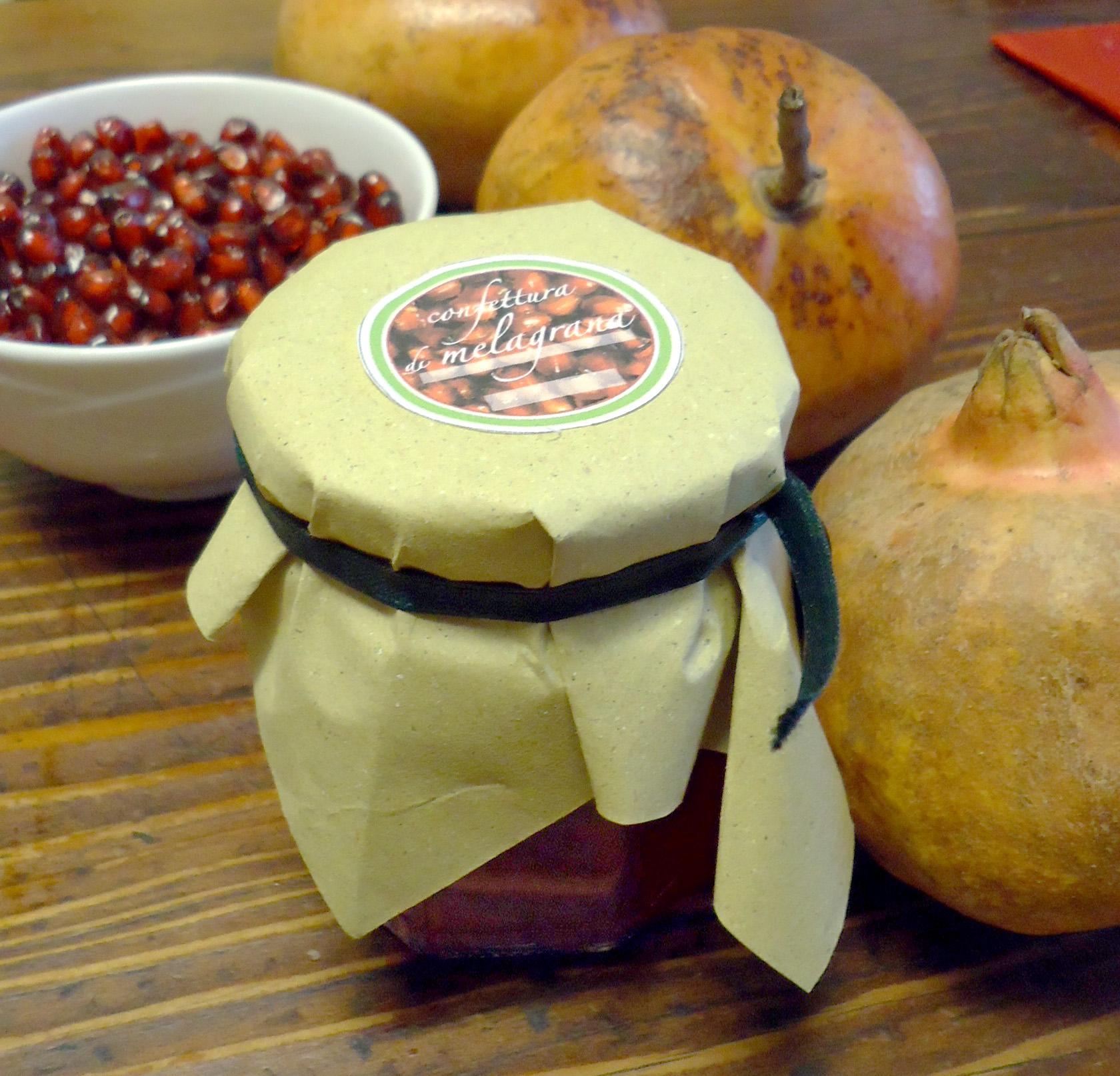 confettura di melagrana con miele - barattolo etichetta