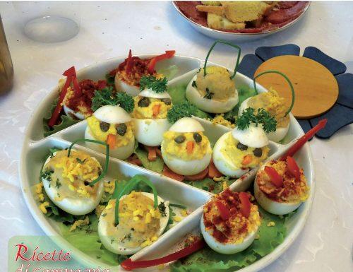 Creazioni con le uova sode: funghetti, pulcini, cestini e diavoletti