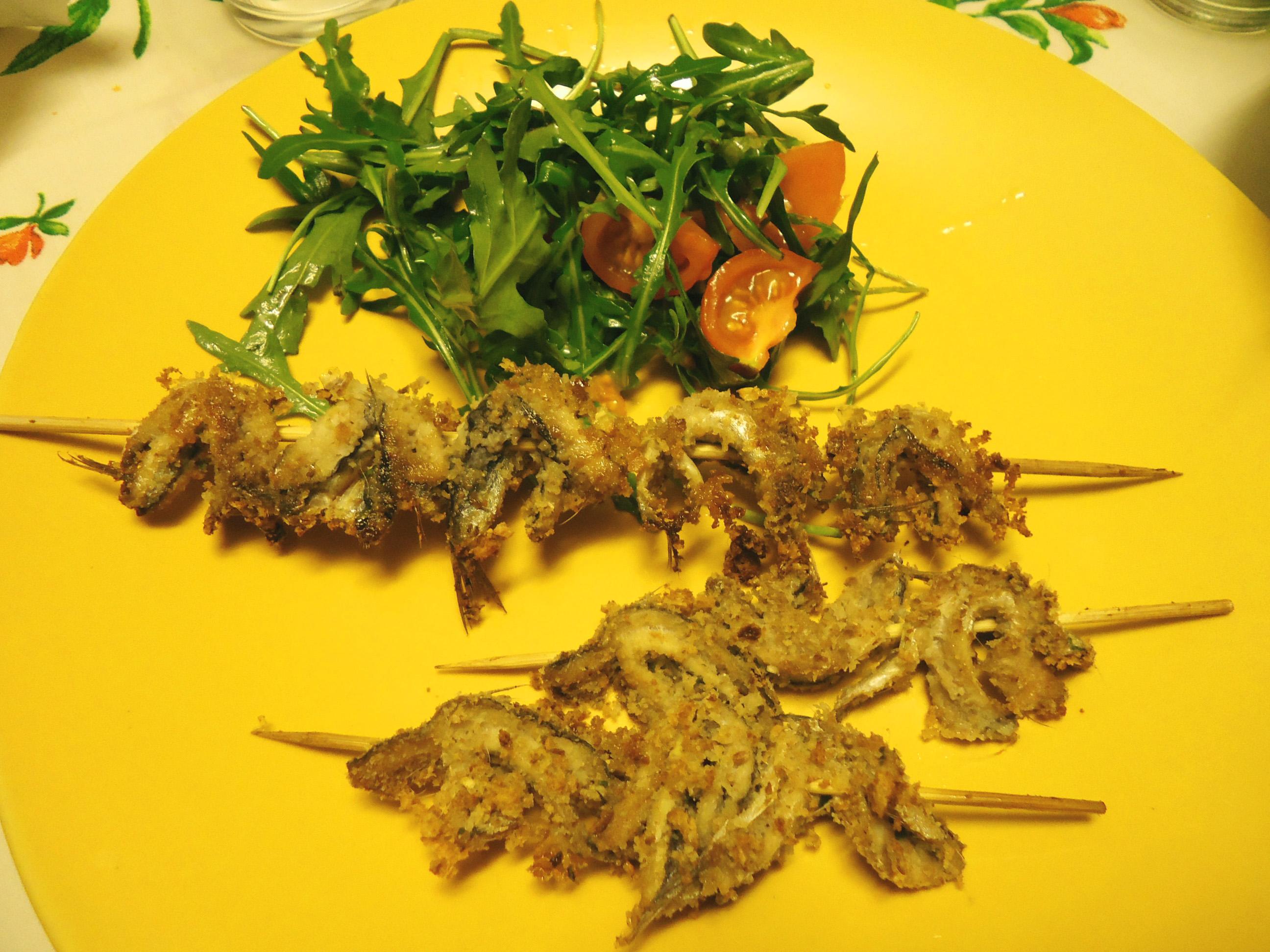 Spiedini di alici al forno ricette di campagna - Cucinare lo sgombro al forno ...