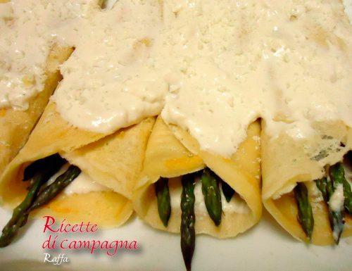 Blinis agli asparagi selvatici con crema leggera