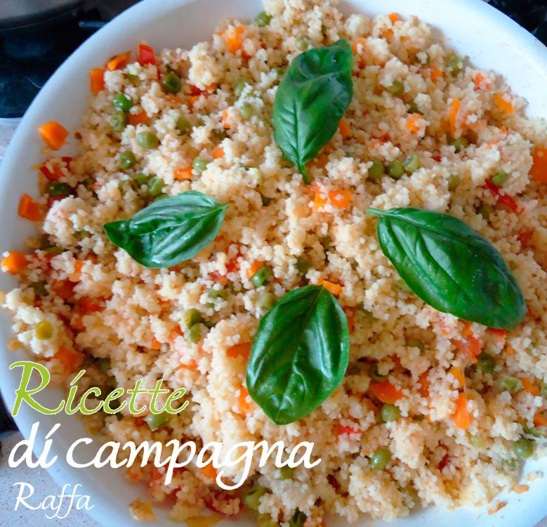 insalata di cous cous con verdure estive - padella