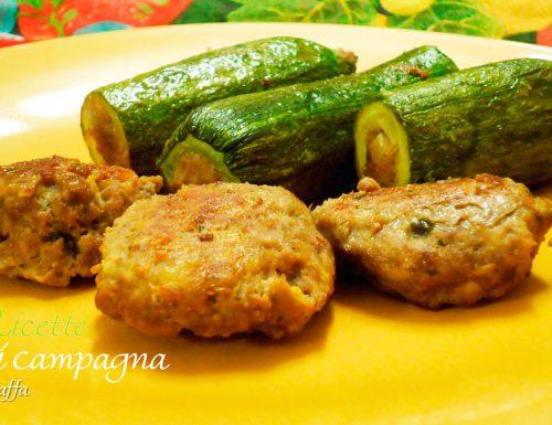 Zucchine ripiene di carne e polpette