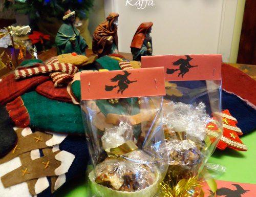 Befana 2014: frutta secca caramellata, etichette da scaricare e confezione.