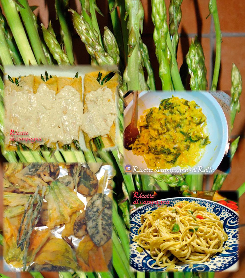 menù con gli asparagi