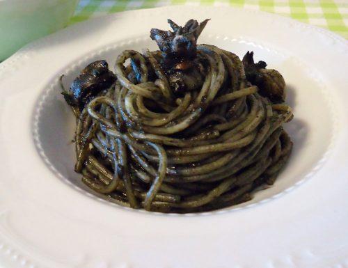 Spaghetti o riso al nero di seppia