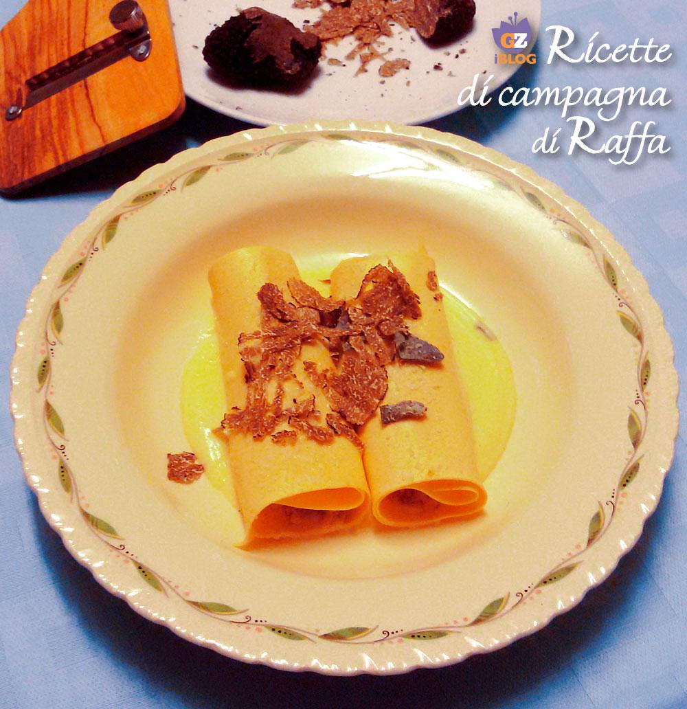 Cannelloni di pane integrale con tartufo