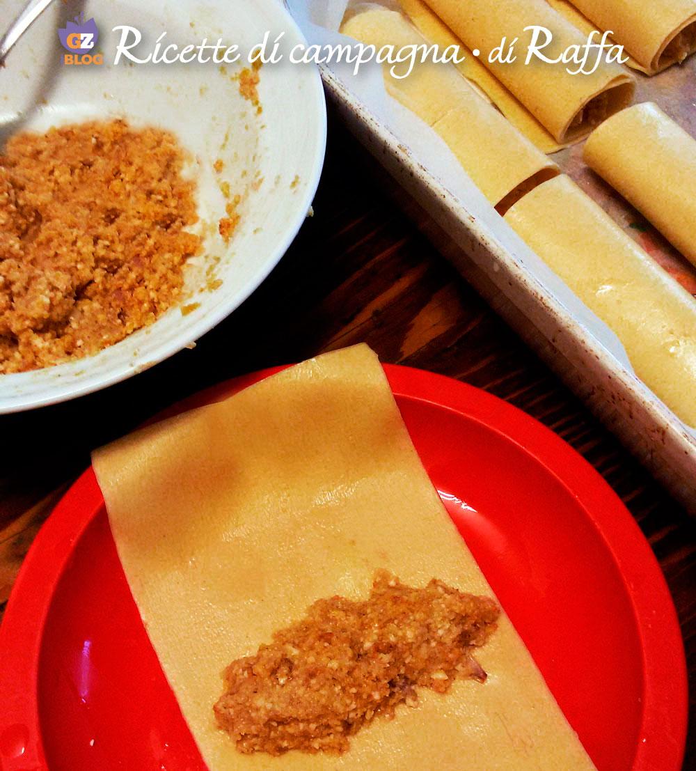 Cannelloni di pane integrale con tartufo - preparazione