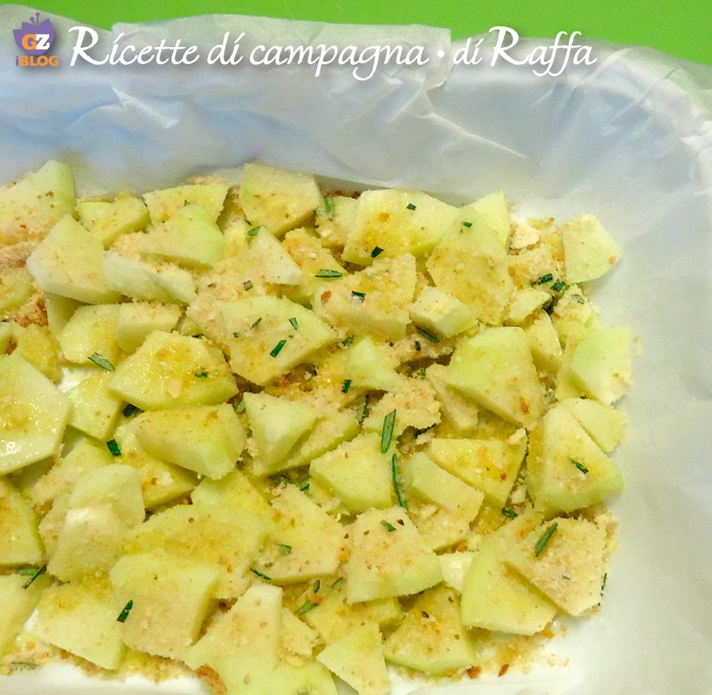 Zucca spinosa gratinata con zenzero e salsa di soia - pirofila