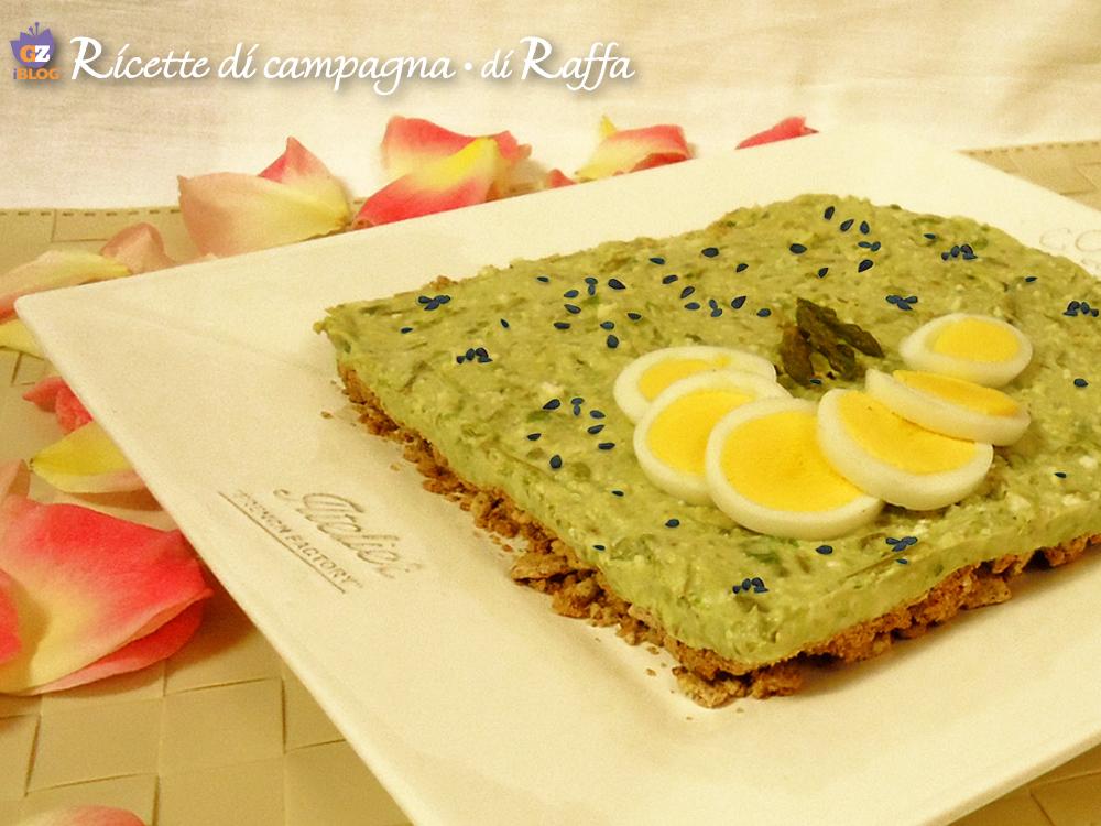 Cheesecake agli asparagi selvatici e tofu