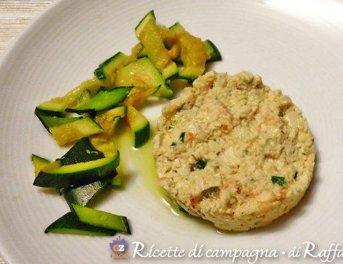 Paté di tofu al salmone con zucchine