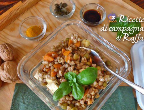Insalata di grano saraceno con tofu e verdure