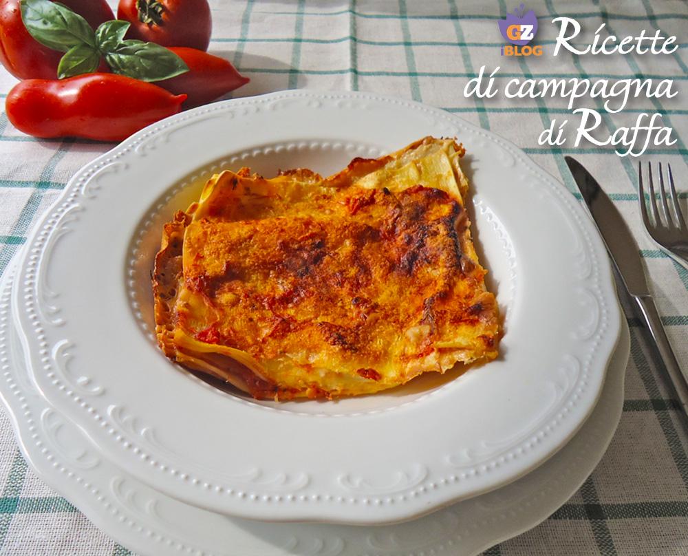 Lasagne light al pomodoro e basilico