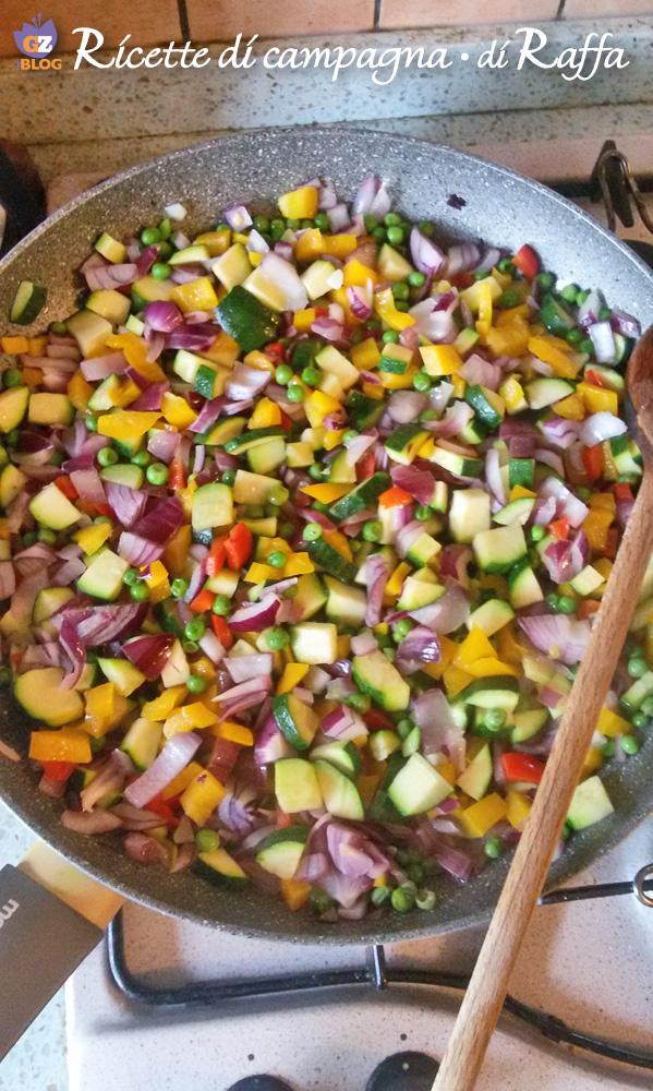 fideuà di Candia con salsa aioli - verdure
