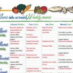 Proposte per il menù della settimana di ottobre